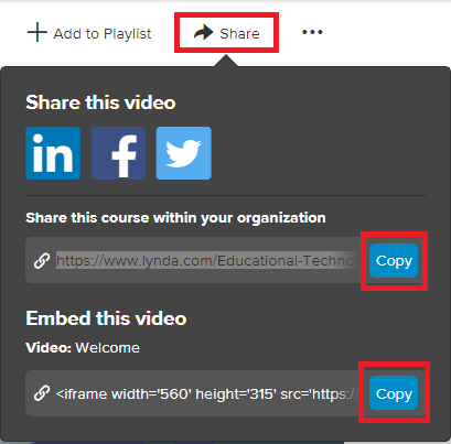Sharing screen provides links to upload, and highlighting copy buttons to copy the links