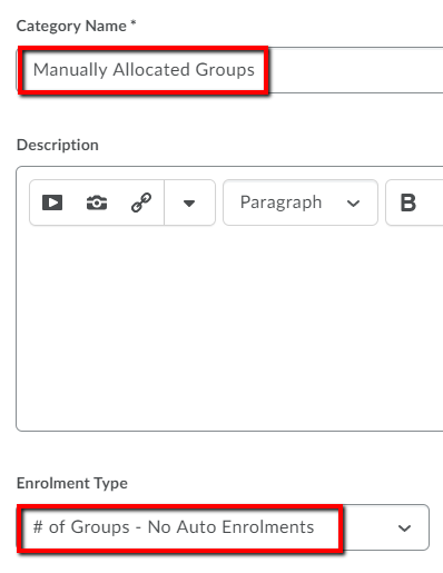Manually Allocated Groups 2.3