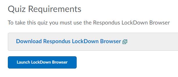 Respondus Lockdown Browser
