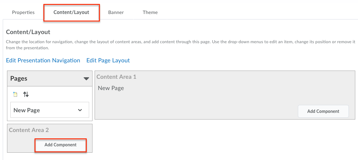ContentLayout add component