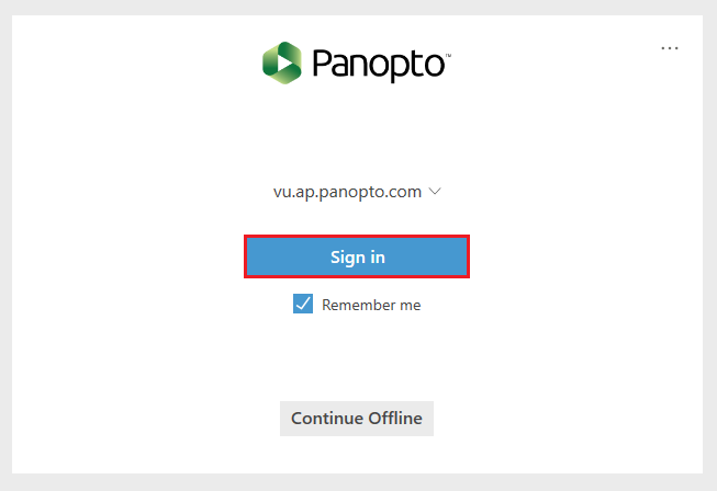 panopto welcome screen login
