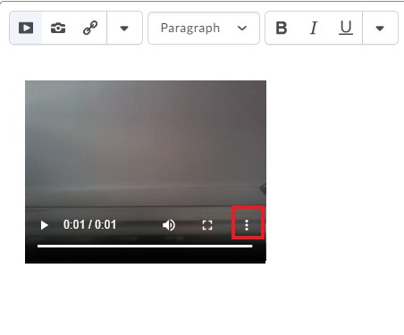 Video Note setting captions