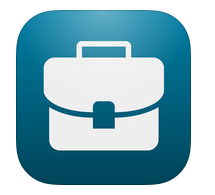 D2L app icon is a closed white suitcase