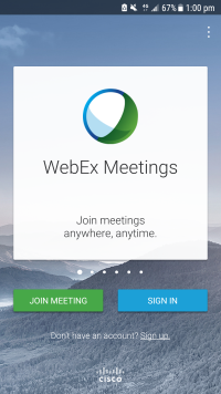 Downloading and Using the WebEx App