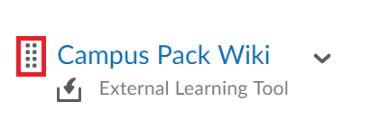 Icon beside Campus pack Wiki Item selected