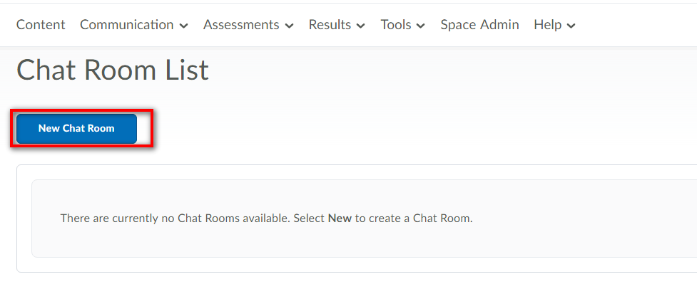 Create new chat room