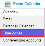 2. time zone button
