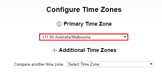 3. primary time zone
