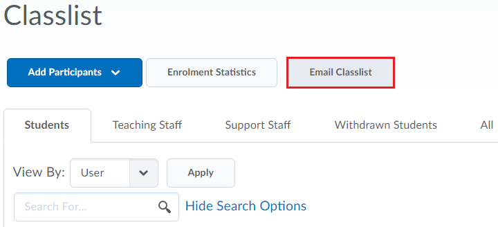 5. email the whole classlist