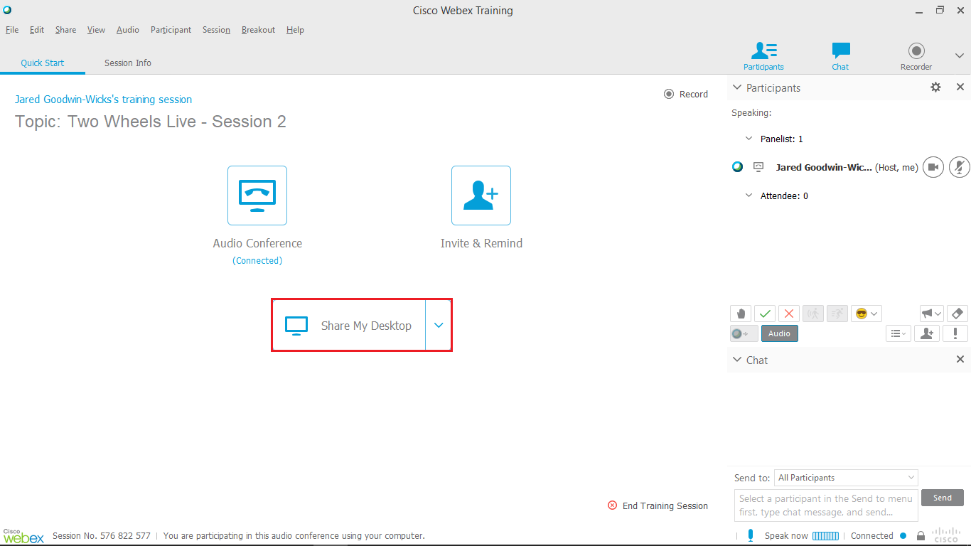 Facilitating a WebEx Virtual Classroom