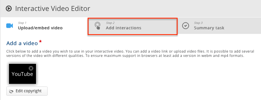 add interactions