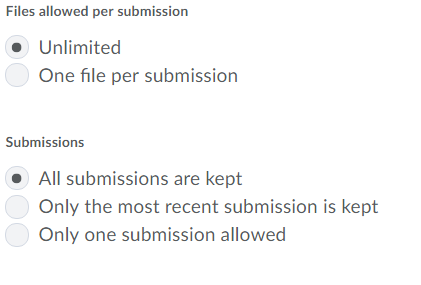 Submission options 2