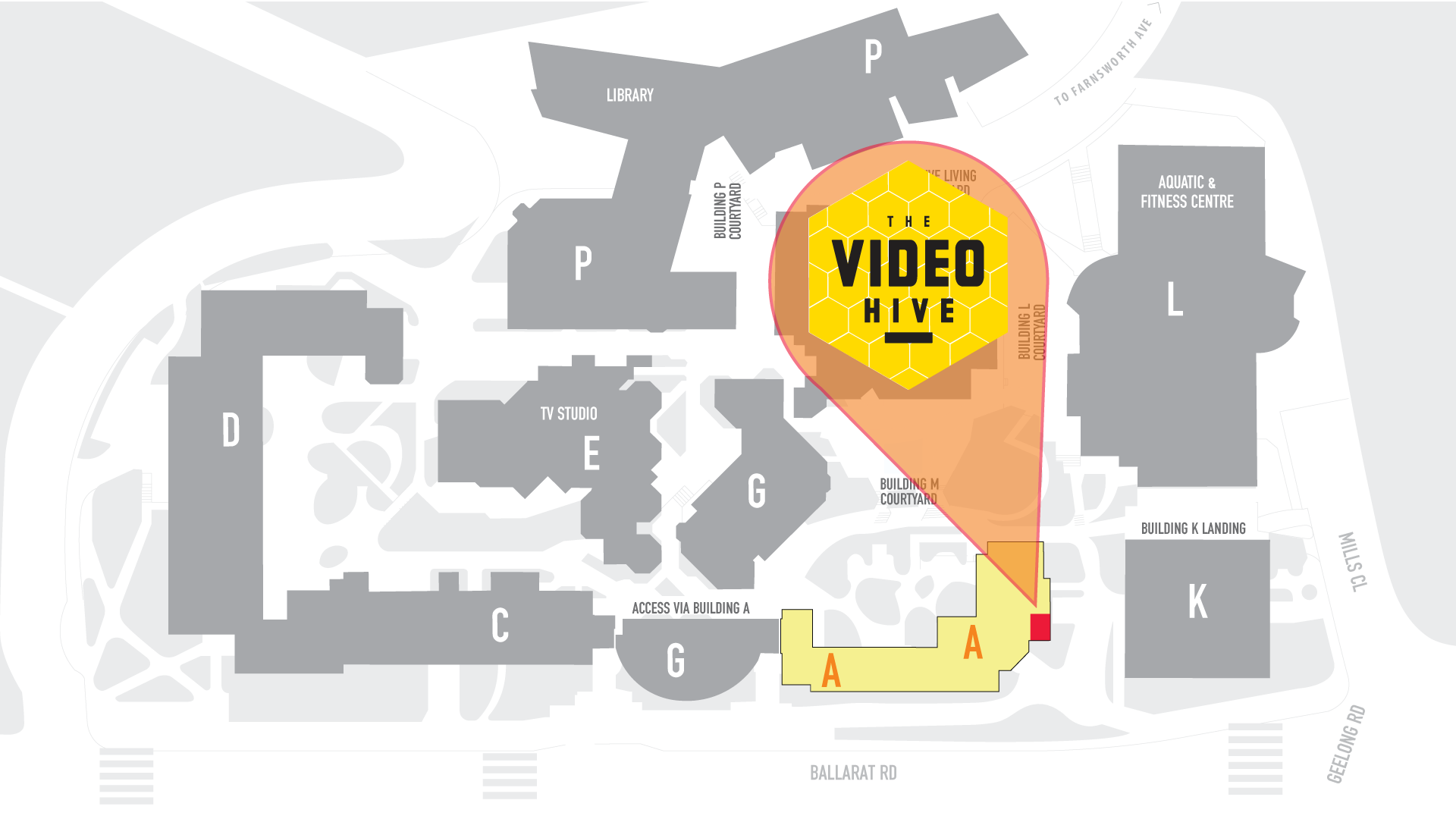 The Video Hive Location Map